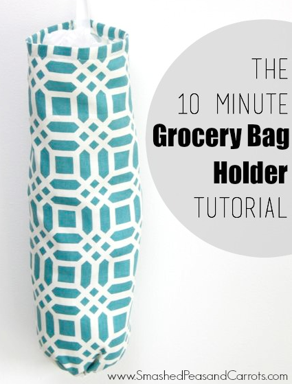 6 Fantastic Kitchen Sewing Projects! Grocery bag holder