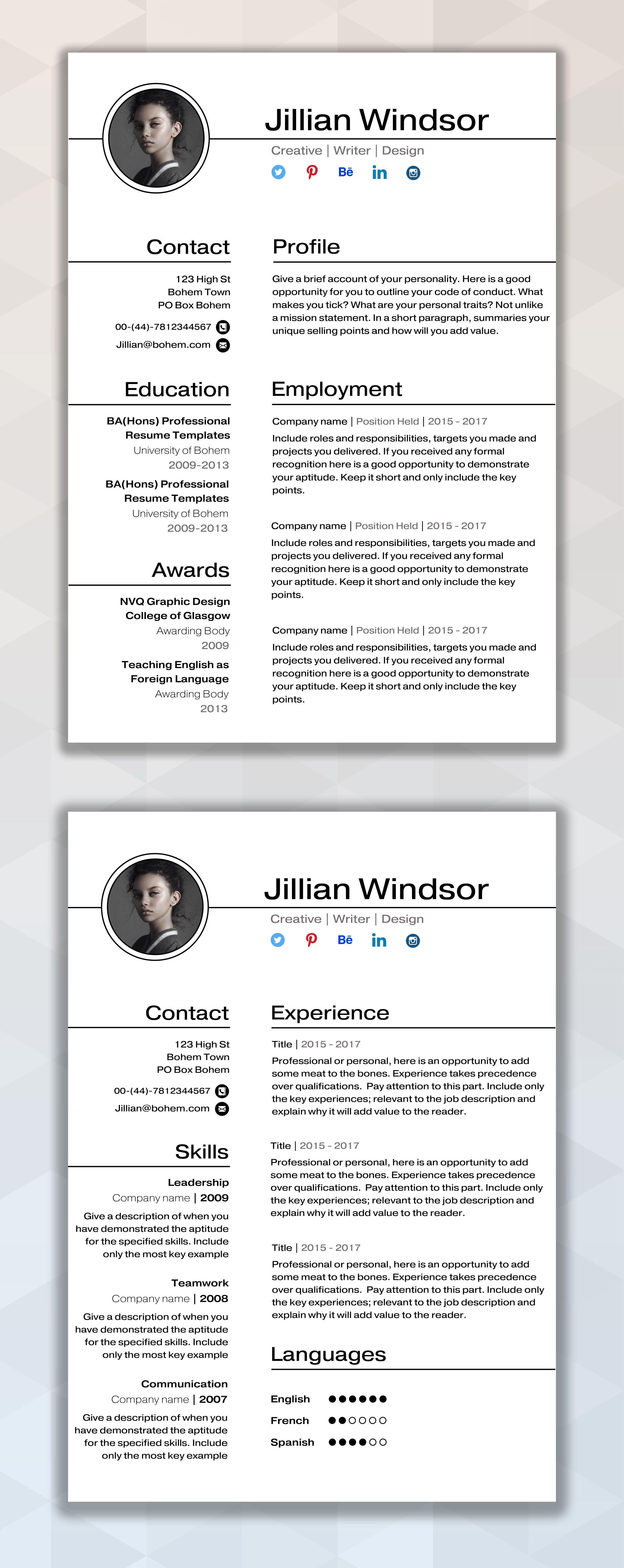 Po Resume Template | Good Cv Template With Po Photos Resume Samples Executive