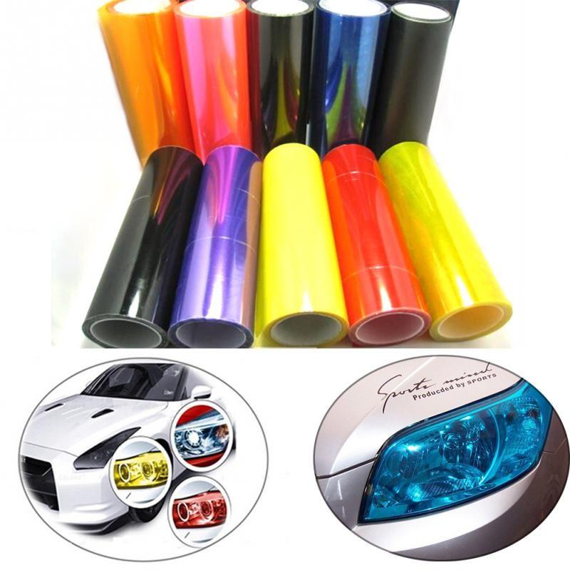 12 Pellicola A Colori Adesivo 30x100 Cm Auto Styling Auto Fanali