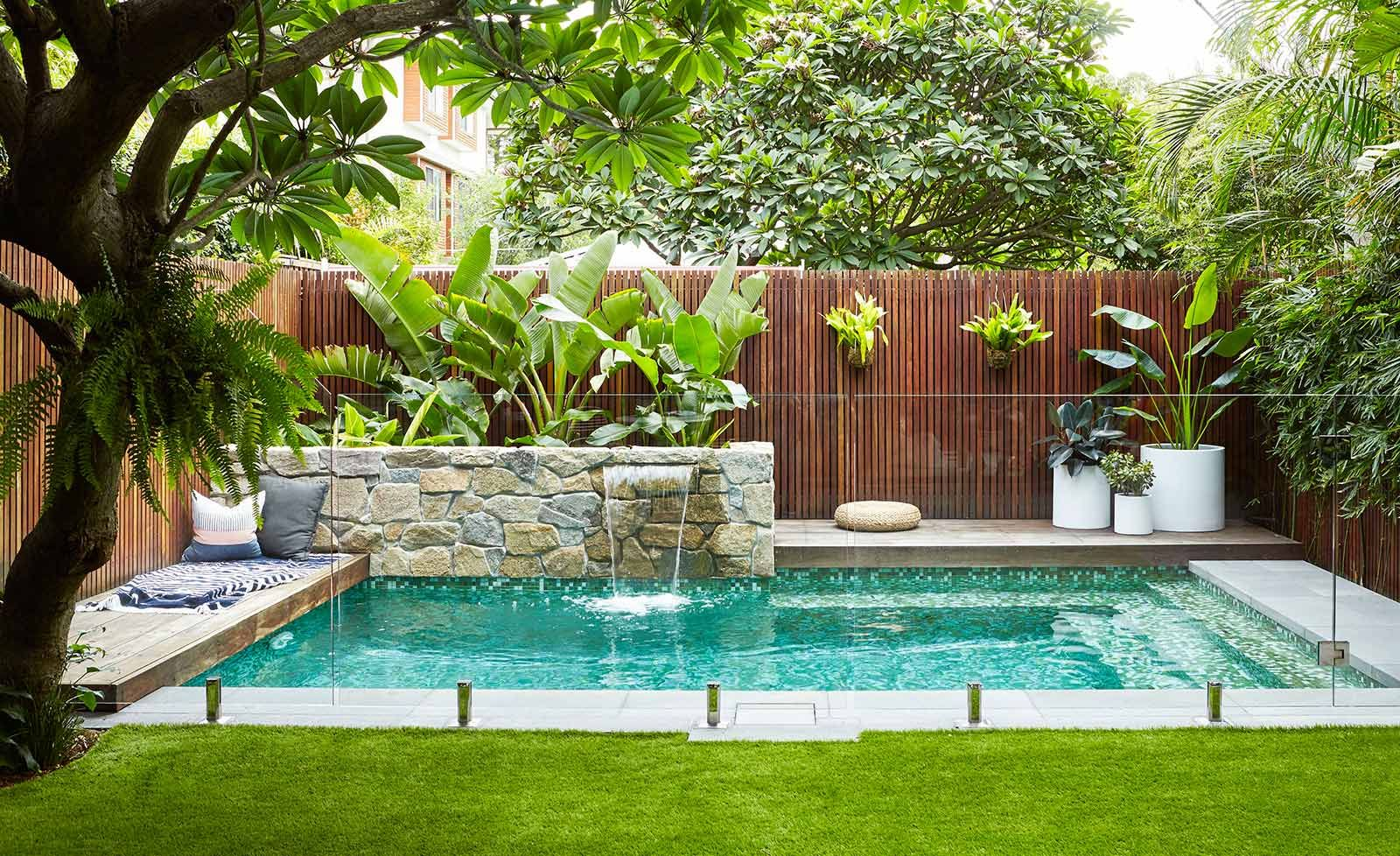 Image Result For Backyard Gardens Sydney Backyard Pool Pinterest Pool Landscaping Small
