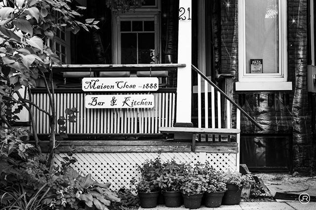Maison Close 1888 in Kensington Market #America #Bar #BlackandWhite ...