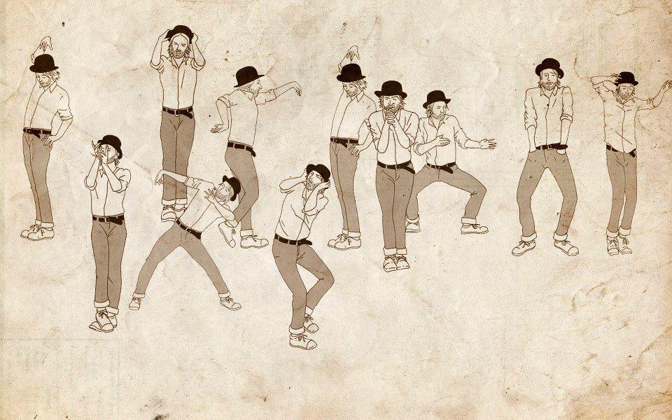 Dançando Lotus Flower Ilustração, Cores, Tatoo