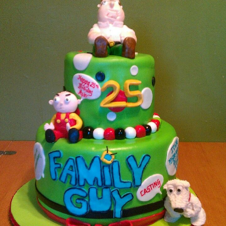 Happy Th Birthday Tiered Family Guy Cake My All Occasion - Family birthday cake ideas