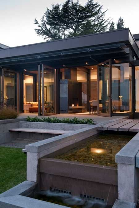 Large Modern House Design with Water Features Inspired by Water ...