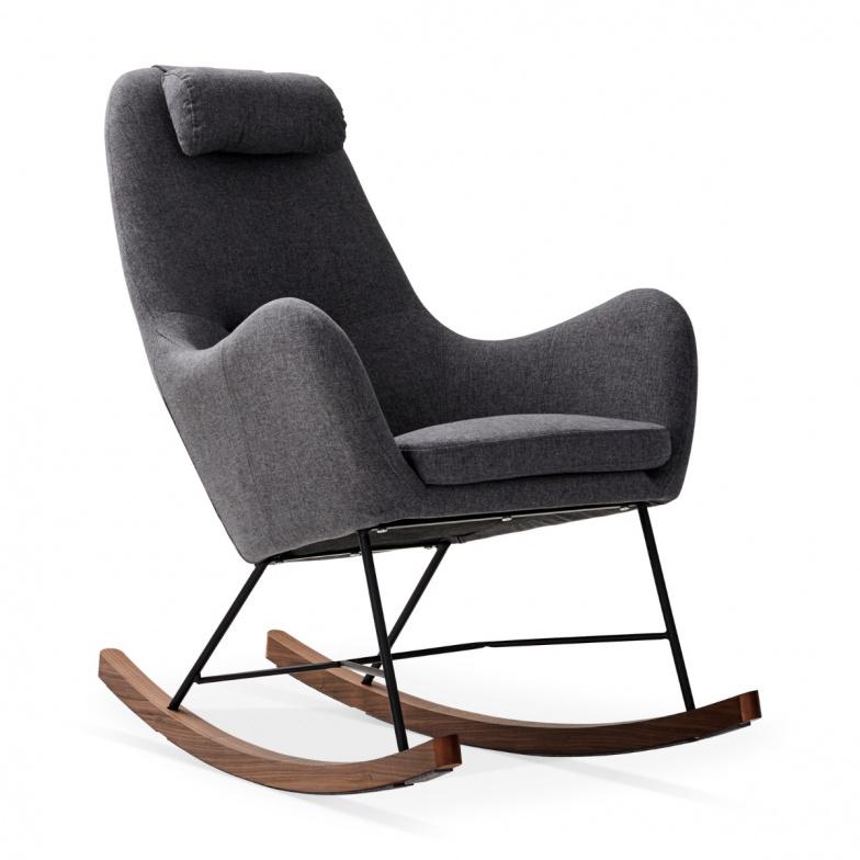 Kiel Chaise Bercante Grise Rose Ou Bleu Must Societe Rocking Chair Decor Project Decor