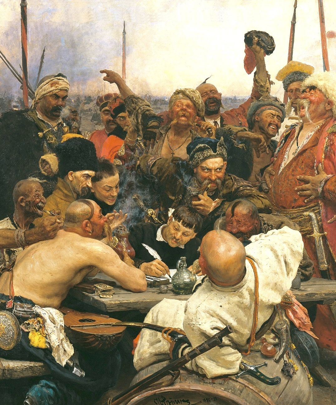 The zaporozhian cossacks write a letter to the sultan of turkey the zaporozhian cossacks write a letter to the sultan of turkey detail 1880 expocarfo