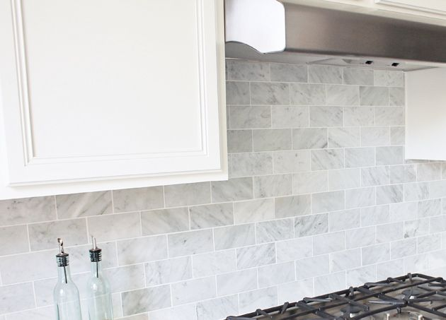 Tumbled Marble Backsplash 3 Polished White Carrara Marble Tile