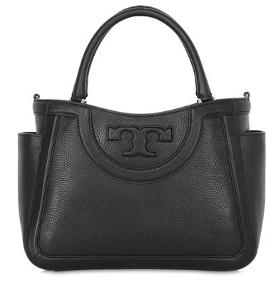 TORY BURCH - SMALL SERIF LEATHER TOP HANDLE BAG