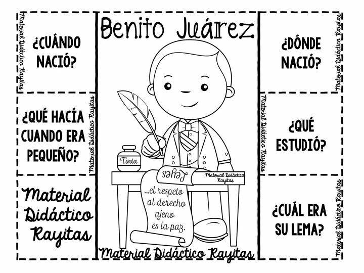 Preguntas Basicas De Don Benito Juarez Proyectos Para Preescolar Actividades Para Primaria Actividades Para Preescolar