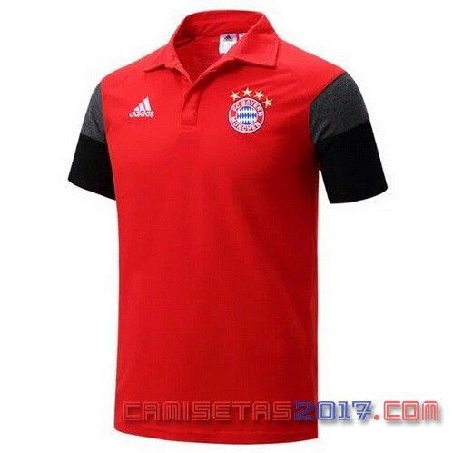 Camiseta polo Bayern Munich 2016 2017 rojo