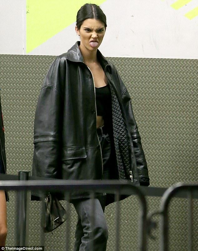 Kendall Jenner sticks out her tongue while out with pal Hailey Baldwin – Street Style