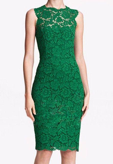4cad6e6bc6 Green Lace Bodycon Dress
