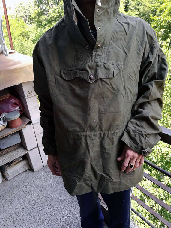 4c52f4f6bba Military Army Anorak Vintage Camping Hiking Biking Canvas