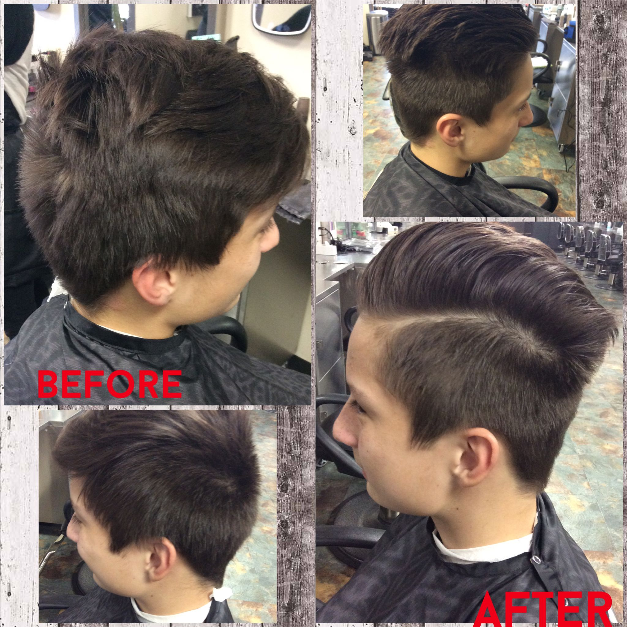 Mens haircut with 4 guard #menshair #hardpart Products Used:American ...