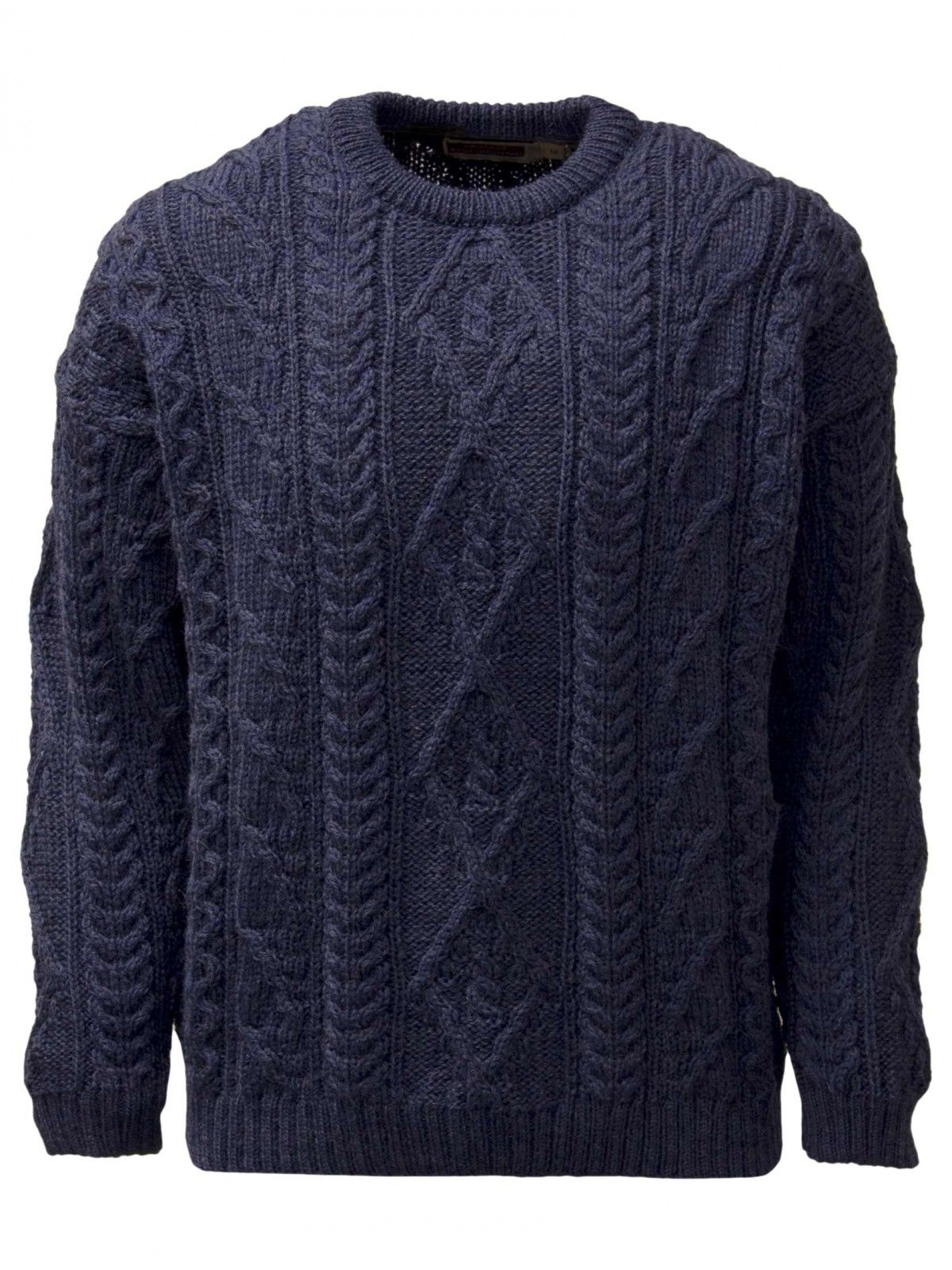 Round Neck Cable Front Jumper By Highland Home Industries In A Traditional And Tricot