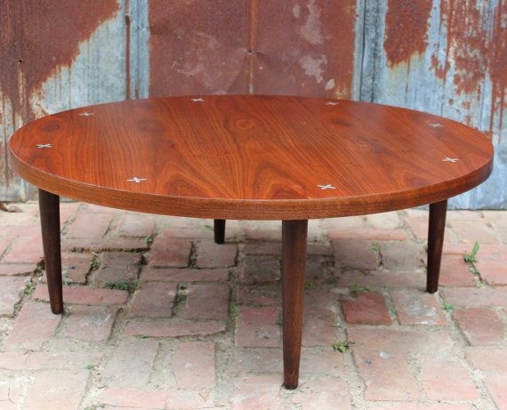 Pleasing Vintage American Of Martinsville Round Walnut Coffee Table Lamtechconsult Wood Chair Design Ideas Lamtechconsultcom