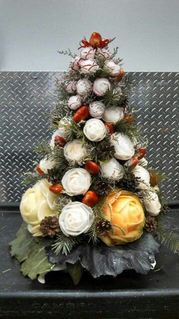 Roses turnip christmas tree by chef l fruit and