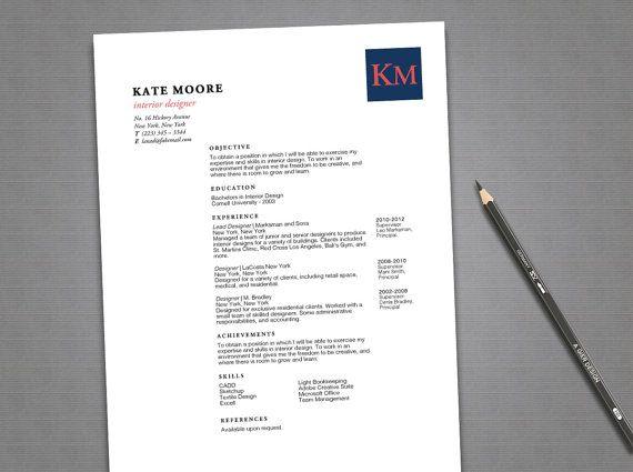 Resume Template - Resume Design - Resume Instant Download - Word - download word resume template