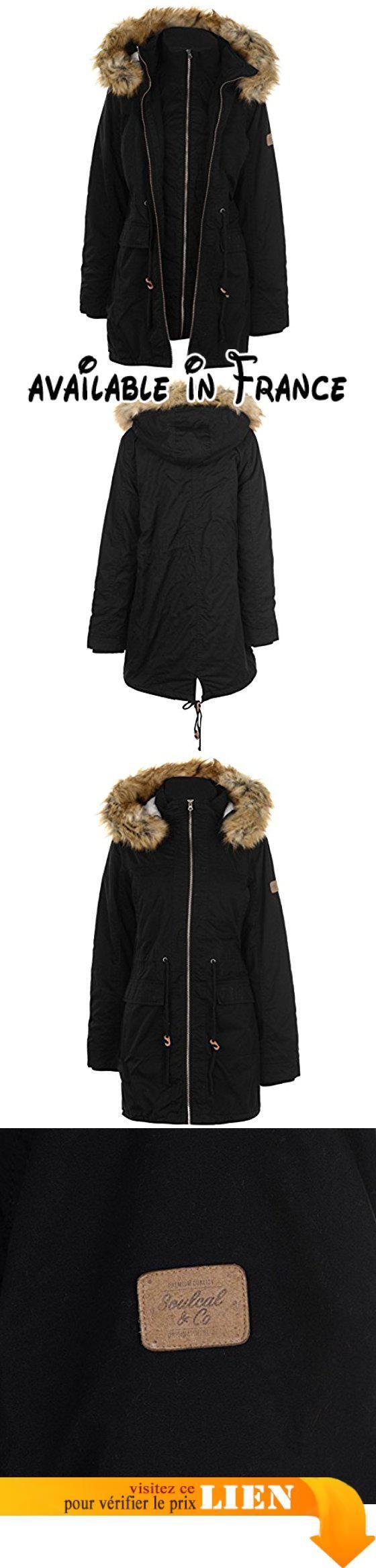 Noir Parka Femme Veste apparel Layer B077q8klmq Soulcal Double L nqIFawaYgx
