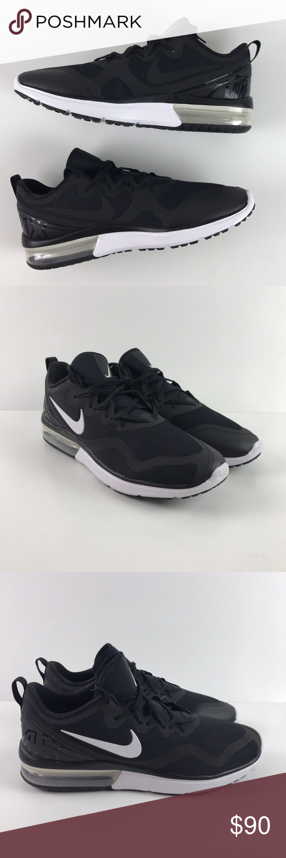 cheaper b6f86 357c1 Zapatos Deportivos · Hombres Nike · Blanco Negro · Caja · Nike Air Max Fury  AA5739-001 Black White Running Nike Air Max Fury AA5739-