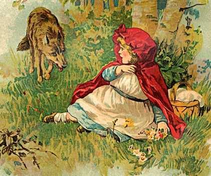 Who Thought It Was A Good Idea To Let A Little Girl Walk Alone In The Wolf Infested Woods Watch This Award W Red Riding Hood Little Red Riding Hood Little
