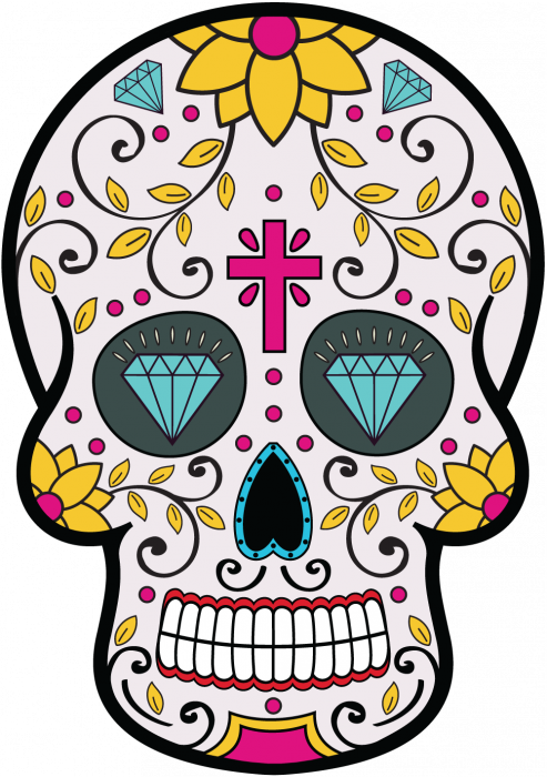 sticker calavera tete de mort mexicaine 8. Black Bedroom Furniture Sets. Home Design Ideas
