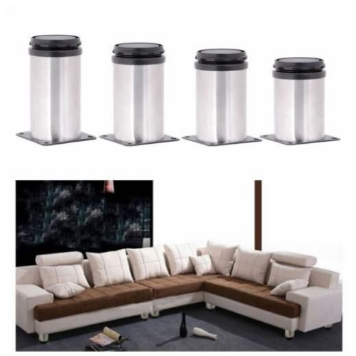 Cheap Furniture Legs Stainless Steel Adjustable Furniture Legs Metal Round  Sofa Table Cabinet Feet Leg Bun Legs/feet Steel+plastic No.buy At Best  Prices On ...
