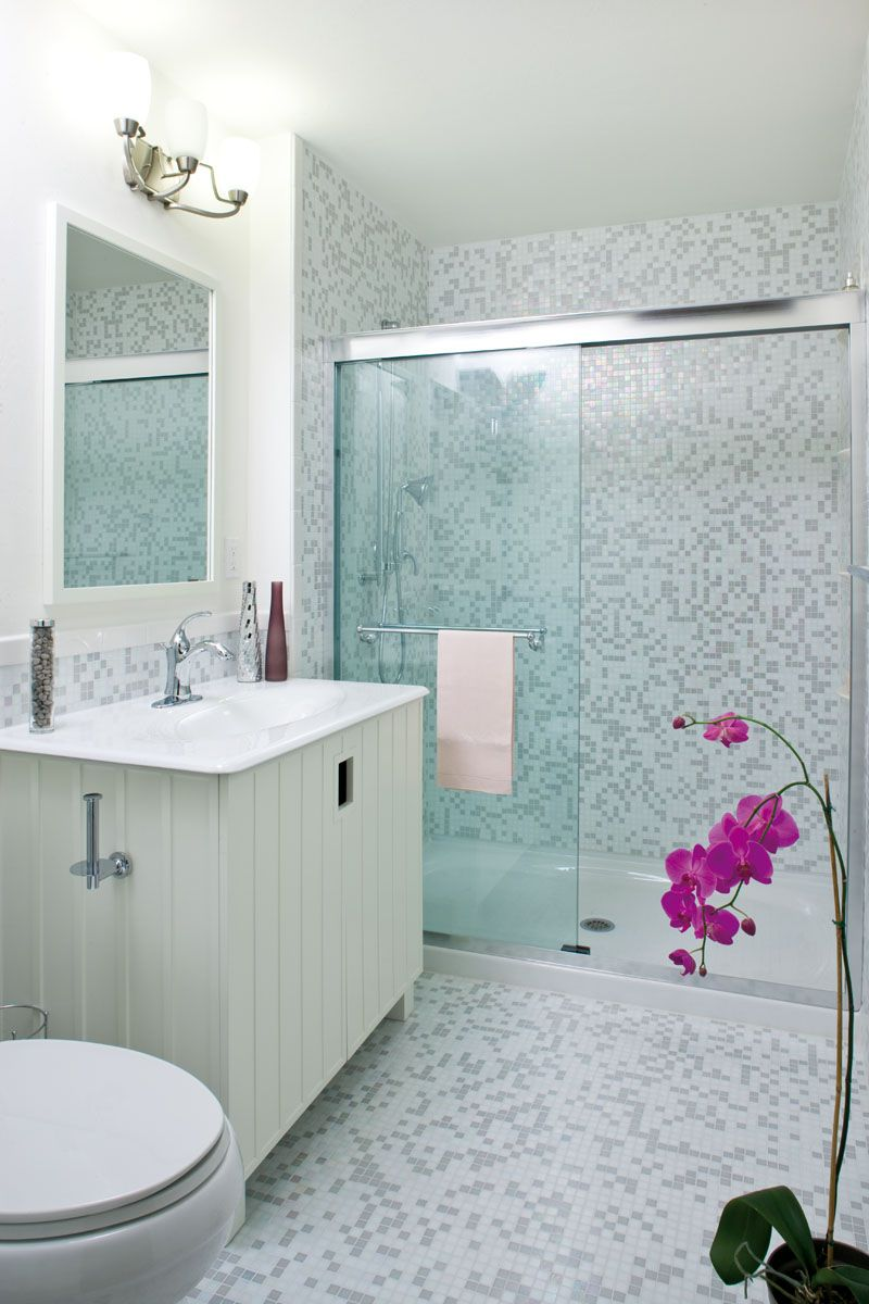 A custom mosaic tile design can transform sterile-looking spaces ...