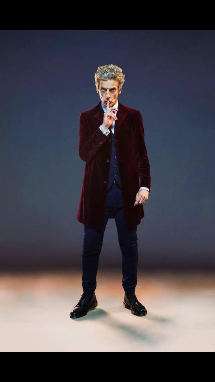 Peter Capaldi as the Twelfth Doctor.