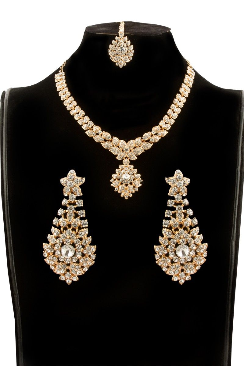 Latest indian necklace set with earrings online http://www ...