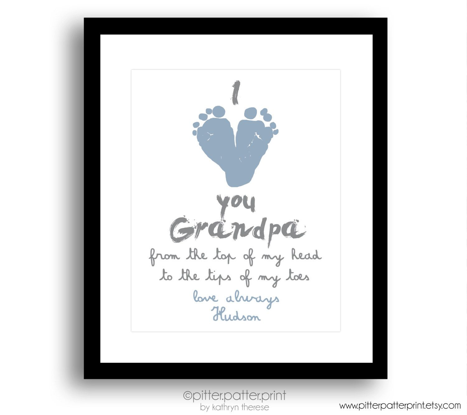 Gift Ideas For First Fathers Day Part - 33: Gift For Grandpa Personalized Fatheru0027s Day By PitterPatterPrint