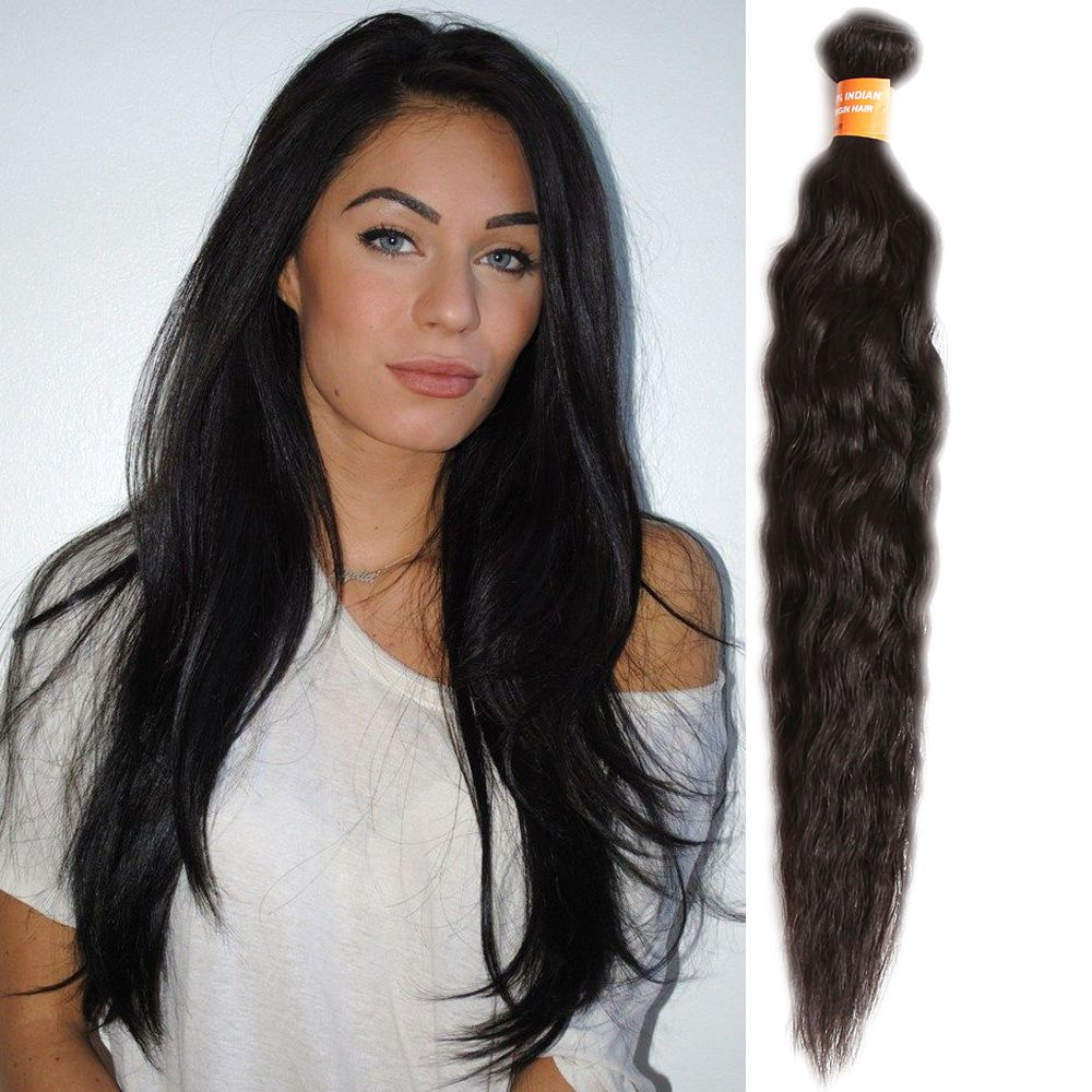 Details About 3bundles 300g Indian Human Hair Extension Natural Wave