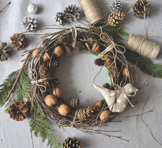 Christmas Decorations \u2013 christmas wreath, tilda bird \u2013 a unique - christmas wreath decorations