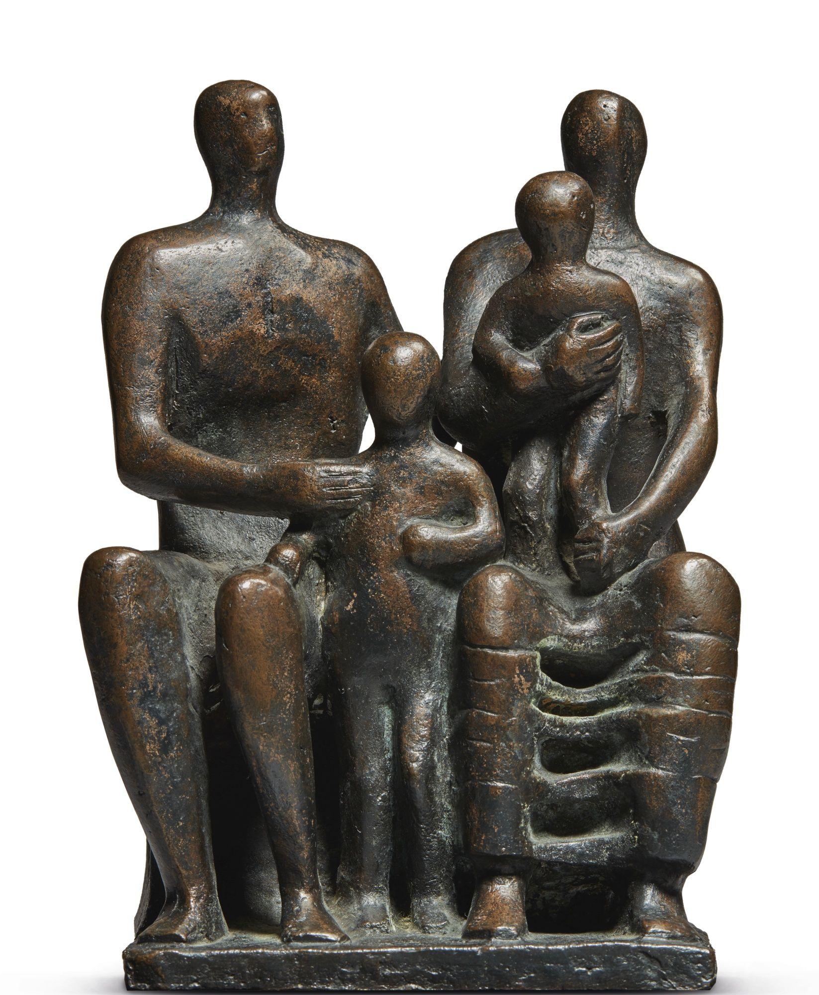 Henry Moore FAMILY GROUP | Modern sculpture, Art day, Art