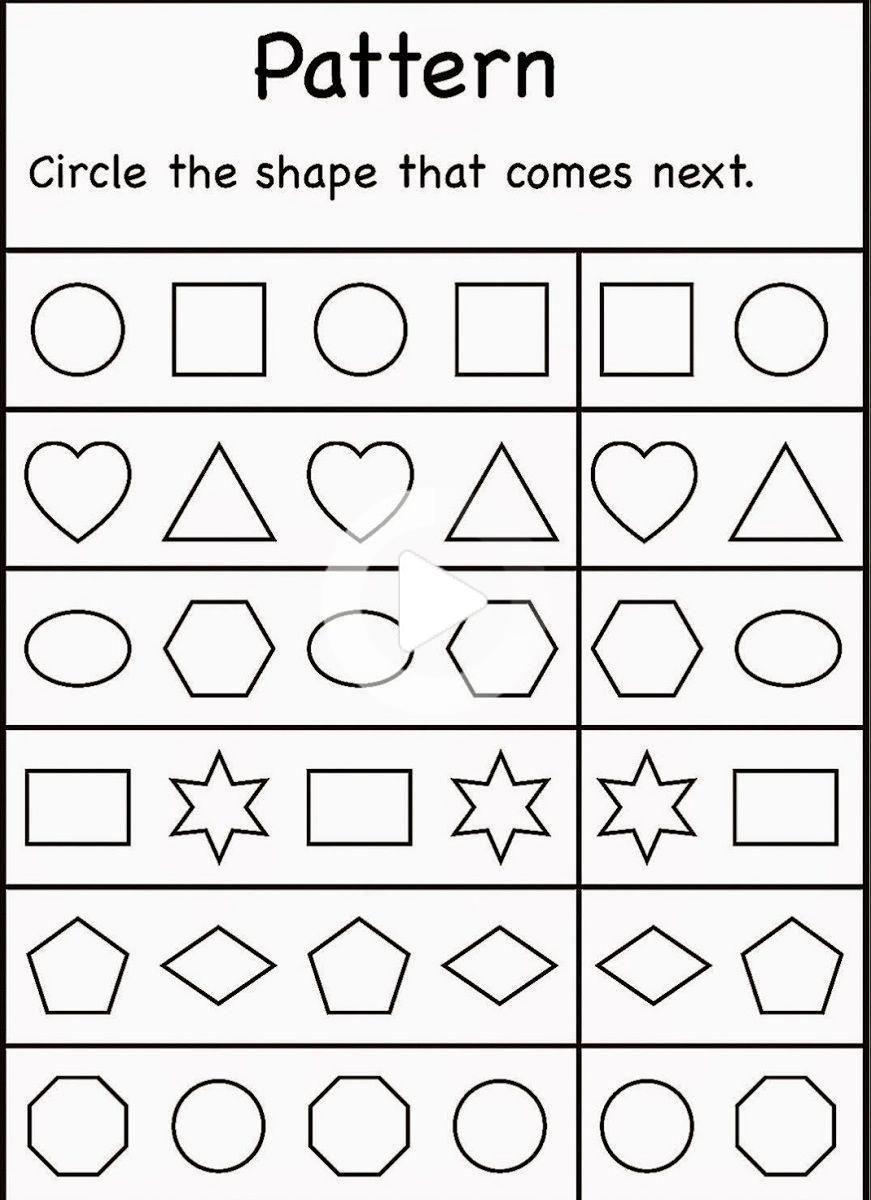 38 Letter Worksheets For 4 Year Olds Free Kindergarten Worksheets Pattern Worksheets For Kindergarten Pattern Worksheet