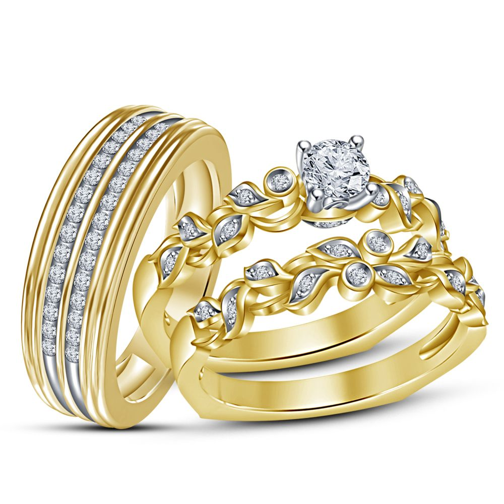43++ Yellow gold diamond wedding bands for her ideas in 2021