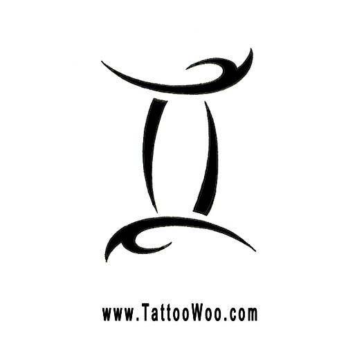 d12bb0ffa Gemini Symbol Tattoo Design Tribal Zodiac Star Sign Picture Design 500x500  Pixel