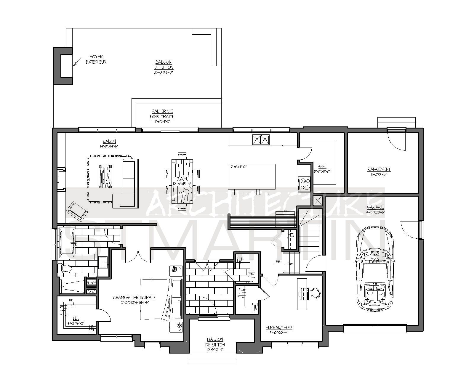 Architecture St Martin 14 2651 Floor Plan Design Small House Plans House Plans