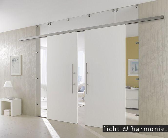 wei e schiebet ren kombiniert mit glas als raumteiler. Black Bedroom Furniture Sets. Home Design Ideas