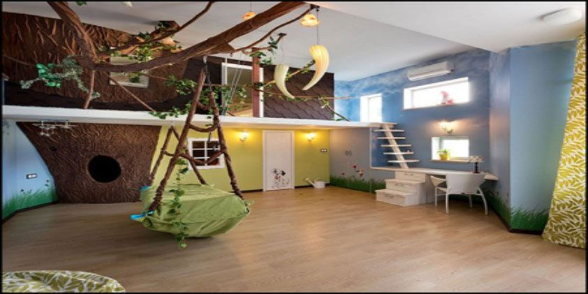 This one would take a little bit more creativity, but will be well worth it in the end, and is a really good use of space if your child has a slightly smaller bedroom with limited space. Because treehouses are meant to be small and cosy, and up high, you do not need a lot of ground area, instead you need to think about building upwards.