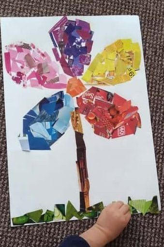 Photo of Spring Flower Art Collage | Hands On As We Grow®