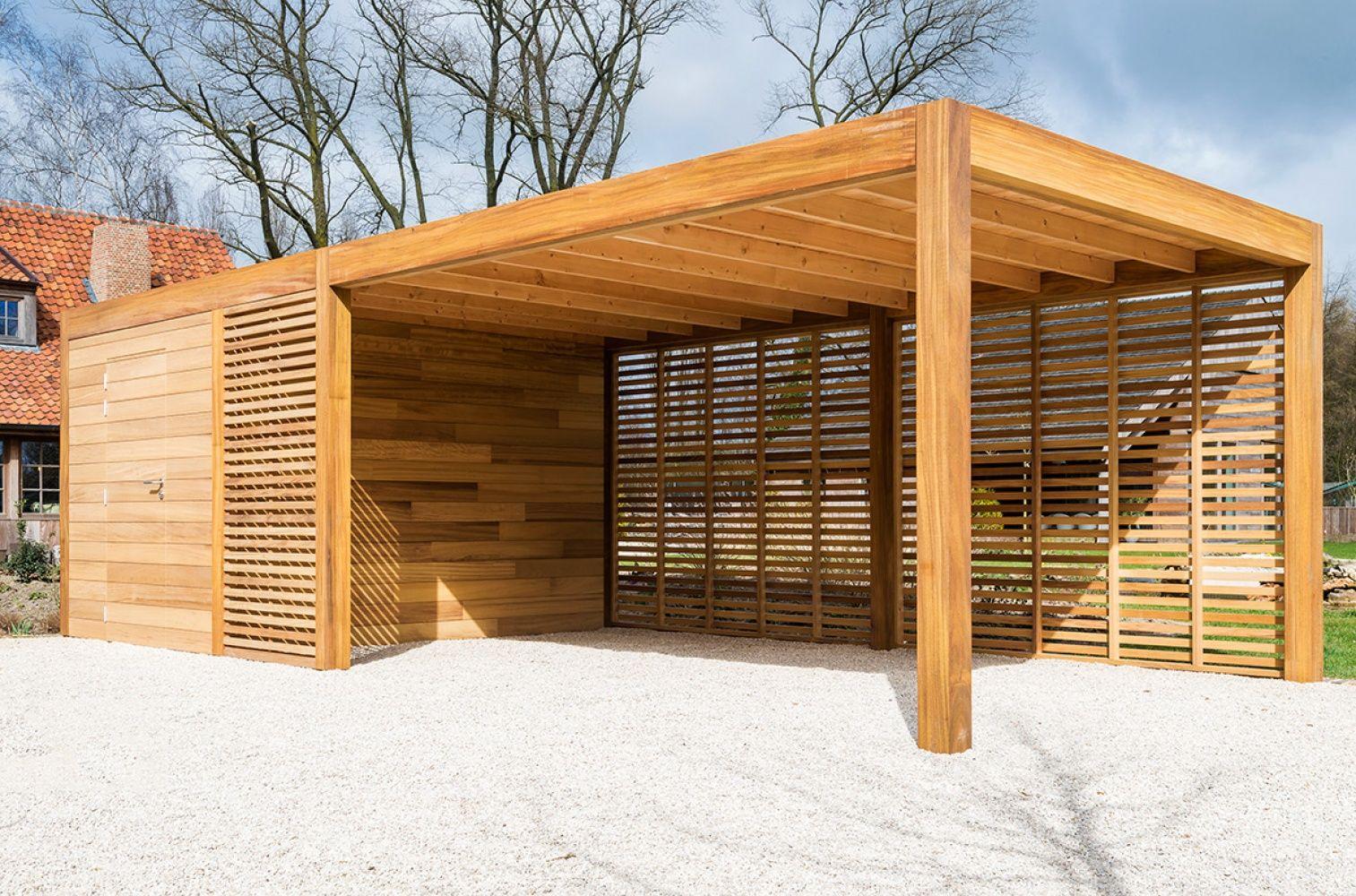 carport of garage in hout met berging of fietsstalling woodstar producten op maat tuinhuizen poolhoouses carports woodstar