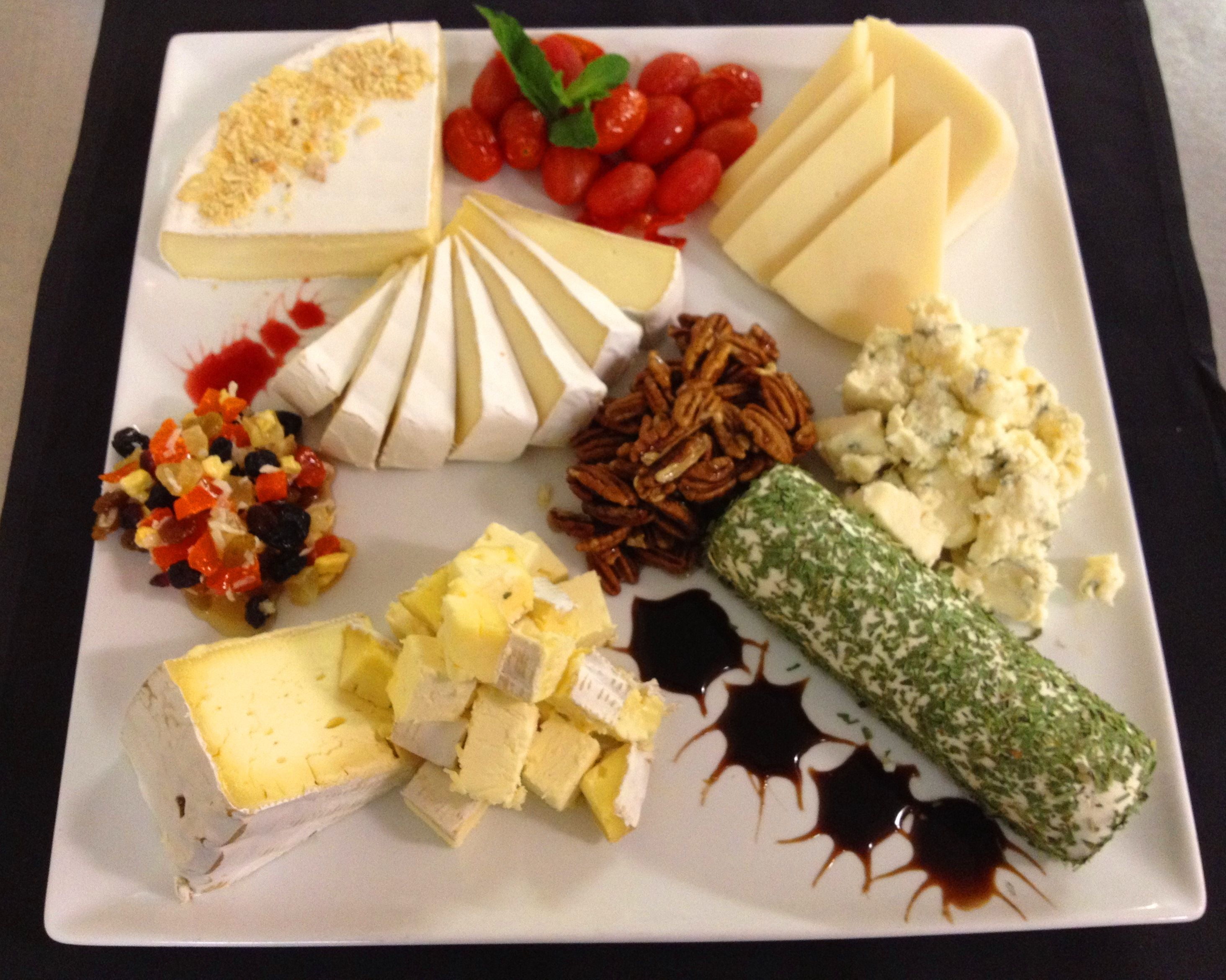 Cheese Platter - made with candied pecans, brie, bel paese ...
