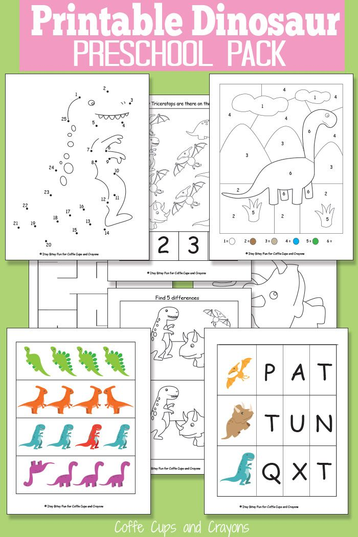 printable dinosaur pack for preschool kid 39 s learning activities dinosaurs preschool. Black Bedroom Furniture Sets. Home Design Ideas