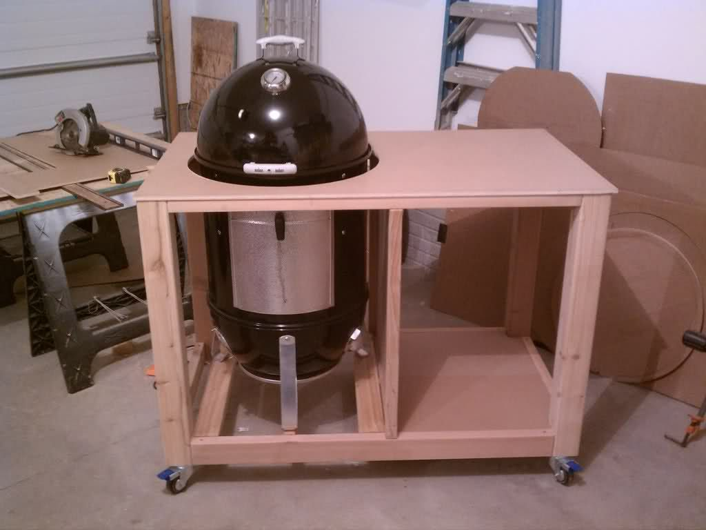 Wsm Cart Enclosure Project Grill Fan Weber Grill Outdoor Grill