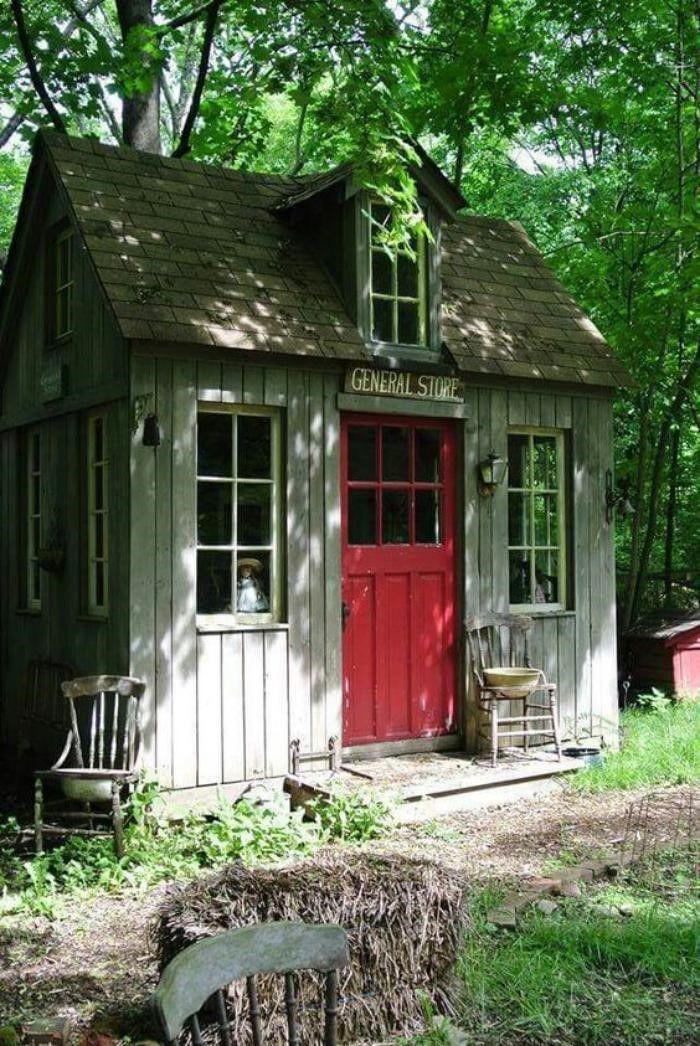 Shed Plans - cabanon de jardin, abri de jardin petite maisonette