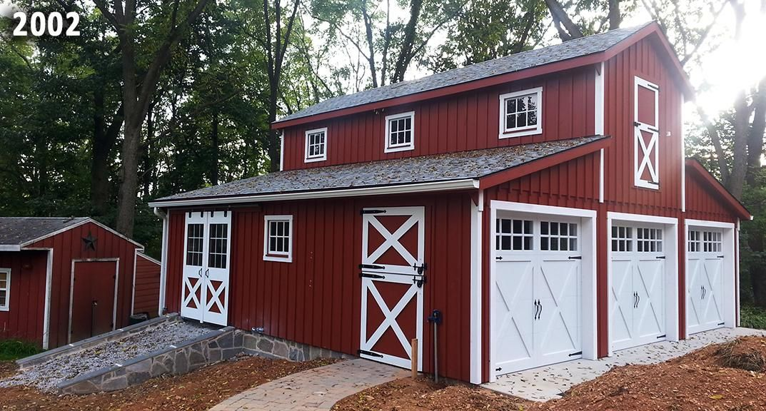 30x28 monitor style barn customized into a 3 car garage for Barn style garages
