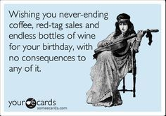 Happy Birthday Best Friend Ecard Wine