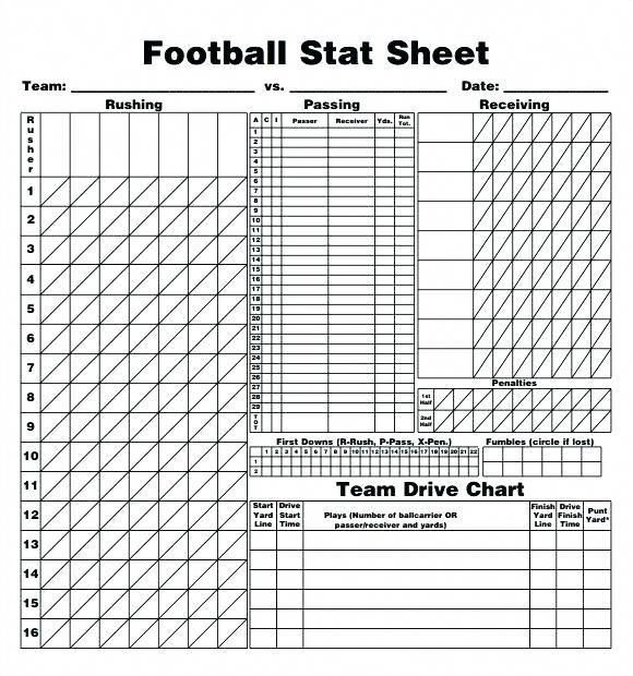 Image Result For Football Score Sheet Pdf Format Basketcores
