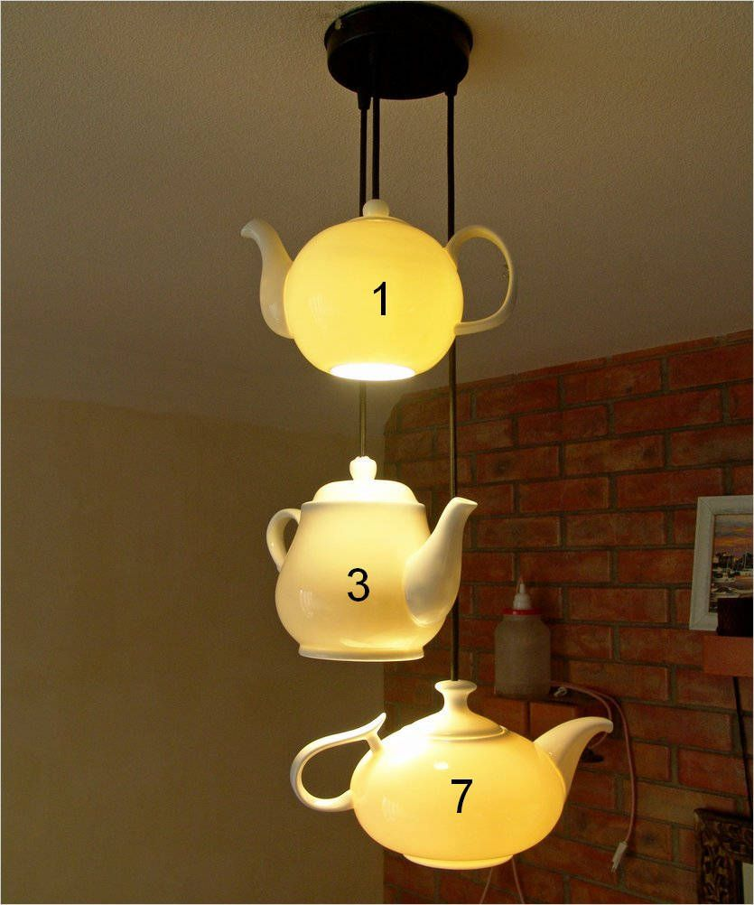 Triple Chandelier With Real Porcelain Teapots Diffe Shapes Are Available Teapot Lamp